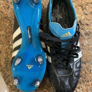 Adizero leather metal stud soccer cleats